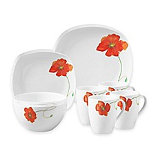 image of Tabletops Gallery® Palermo 16-Piece Square Dinnerware Set