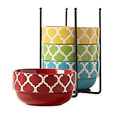 image of Tabletops Gallery® Tile 5-Piece Stacking Bowl Set