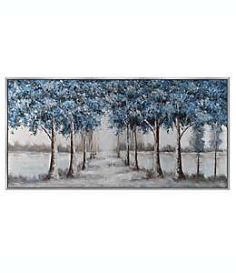 Cuadro decorativo de lienzo diseño de árboles azules 76.2 cm x 1.52 m