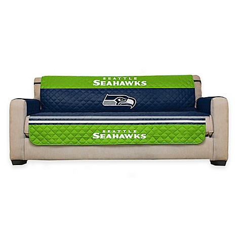Buy nfl seattle seahawks sofa cover from bed bath beyond for Nfl furniture covers