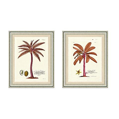 pink palm tree framed art print bed bath beyond. Black Bedroom Furniture Sets. Home Design Ideas