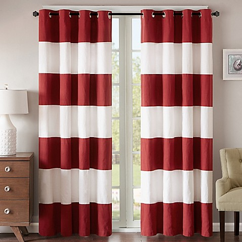 Regency Heights Parker Stripe Grommet Top Window Curtain Panel ...