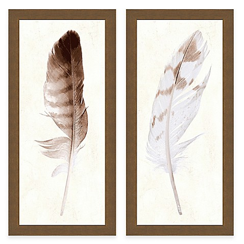 Feather Panel Framed Art Print Bed Bath Amp Beyond