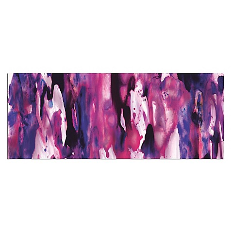 Watercolor Composition Purple Abstract Metal Wall Art - Bed Bath ...