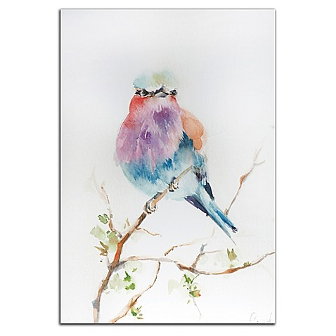 Lilac Bird Metal Wall Art In Pastels Bed Bath Beyond