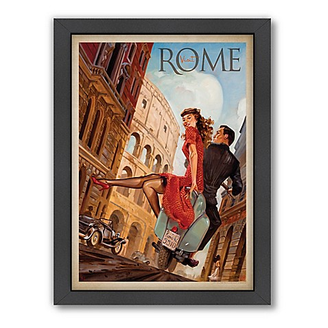 Rome by Vespa Framed Wall Art by Anderson Design Group - Bed Bath ...