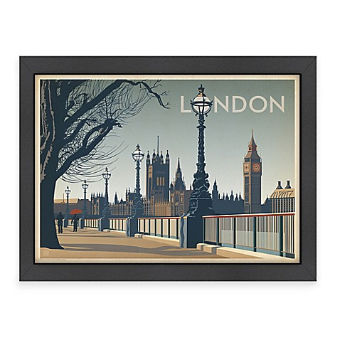 World travel london framed wall art by anderson design for London design group