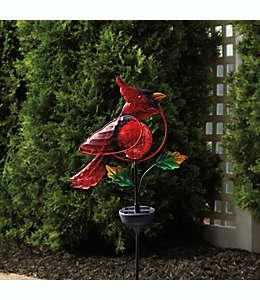 Lámpara solar con diseño de cardenal