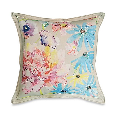 Throw Pillow Arrangement : Colorful Floral Arrangement Square Throw Pillow - Bed Bath & Beyond