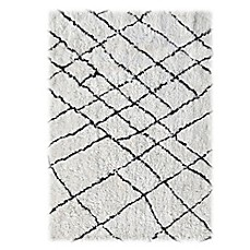 image of Linon Home Tangier Rug in Ivory/Black