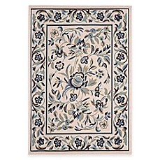 image of Garden Blue 5-Foot x 7-Foot Indoor/Outdoor Area Rug in Cream/Green
