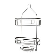 image of .ORG Extra Wide and Extra Long Shower Caddy in Satin