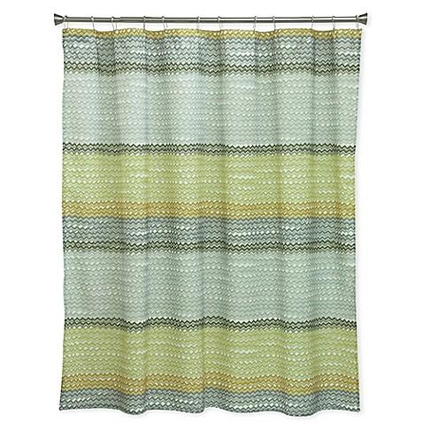 bacova rhythm shower curtain in yellow grey bed bath beyond. Black Bedroom Furniture Sets. Home Design Ideas