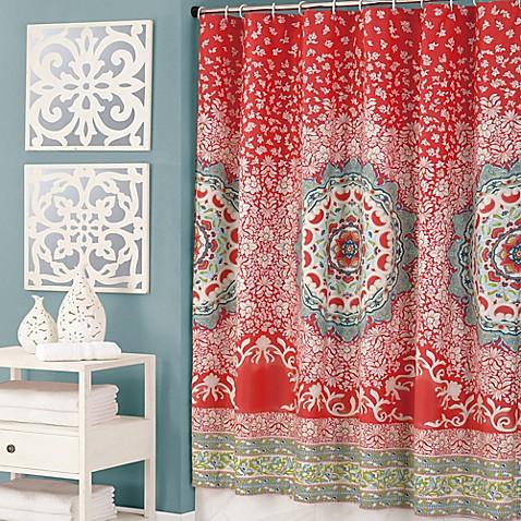 Jessica Simpson Amrita Medallion Multicolor Shower Curtain - Bed ...