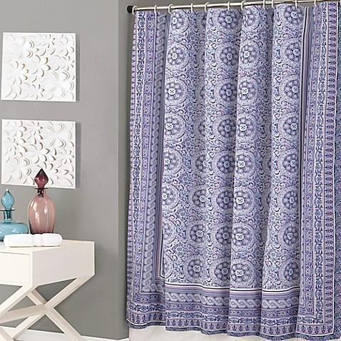 Jessica Simpson Mosaic Shower Curtain In Purple Bed Bath Beyond