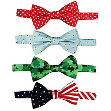 image of Rising Star™ Infant/Toddler 4-Pack Spring Holiday Bowtie Set