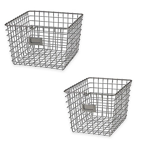 Spectrumu0026reg; Metal Wire Storage Basket In Satin Nickel