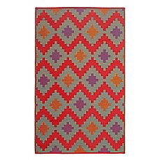 image of FH Home Jakarta Recycled Patio Mat in Red
