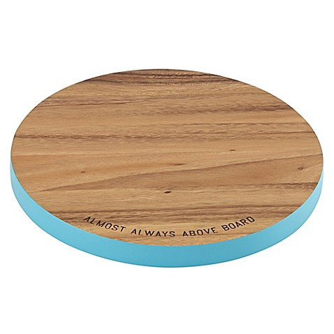 "kate spade new york All In Good Taste ""Almost Always Above Board"" Wood Cutting Board in Turquoise"