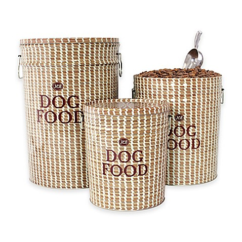 Harry Barker Sweetgrass Dog Food Container In Brown Bed