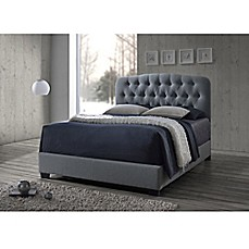 image of Baxton Studio Romeo Button Tufted Upholstered Bed