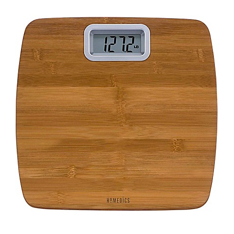 HoMedics Bamboo Digital Bathroom Scale Bed Bath Beyond - Large display digital bathroom scales for bathroom decor ideas