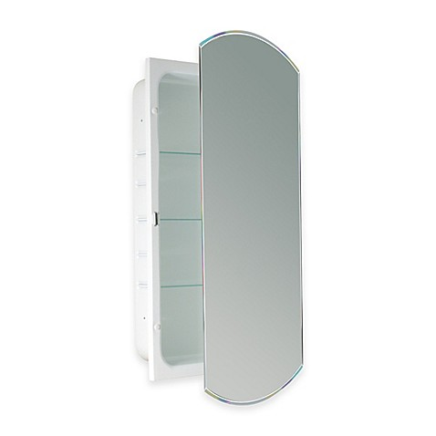 Recessed Beveled Recessed Mirrored Medicine Cabinet In White Bed Bath Beyond
