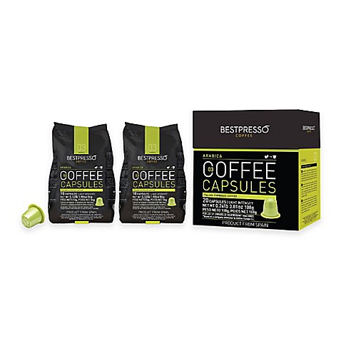 buy bestpresso 80 count arabica nespresso compatible gourmet coffee capsules from bed bath beyond. Black Bedroom Furniture Sets. Home Design Ideas
