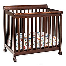 image of DaVinci Kalani 2-in1 Convertible Mini Crib in Espresso