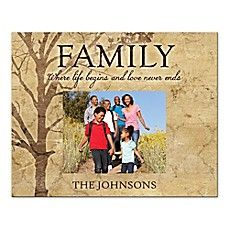 image of Family Tree Love Never Ends Canvas Wall Art