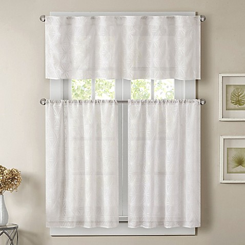 madison park gemma sheer window curtain tier pair bed. Black Bedroom Furniture Sets. Home Design Ideas