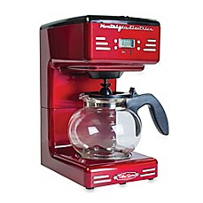 image of Nostalgia™ Electrics Retro Series RCOF120 Electric Coffee Maker in Red