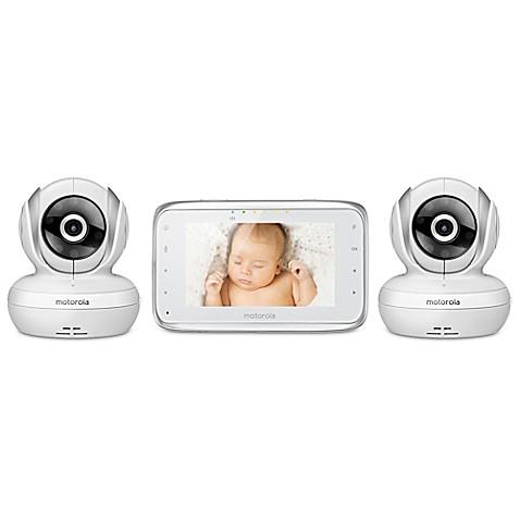 motorola mbp38s 2 digital video baby monitor with 2 cameras buybuy baby. Black Bedroom Furniture Sets. Home Design Ideas