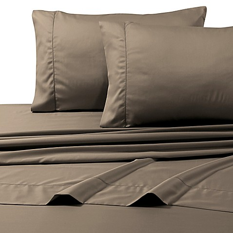 buy 800 thread count egyptian cotton deep pocket queen sheet set in taupe from bed bath beyond. Black Bedroom Furniture Sets. Home Design Ideas