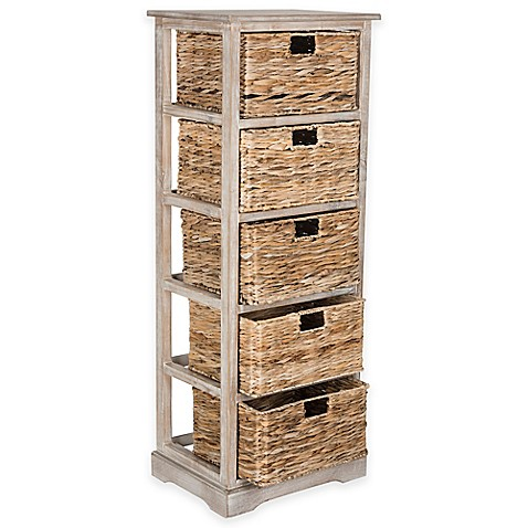 Safavieh Vedette 5 Wicker Basket Storage Chest In Winter