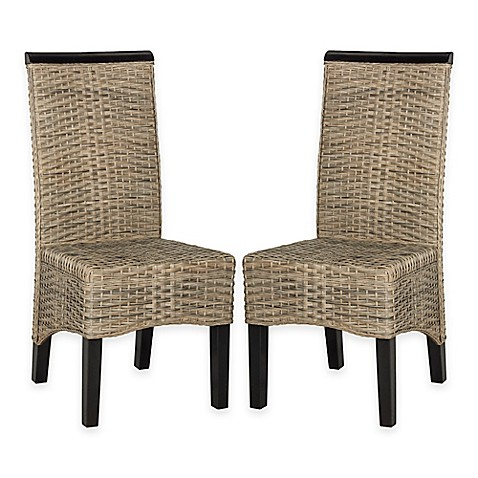 Safavieh Ilya Wicker Dining Chairs (Set of 2) - Bed Bath ...