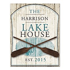 image of Family Lake House Canvas Wall Art