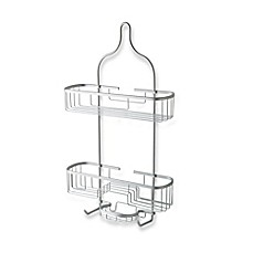 image of Totally Bath Extra Wide and Extra Long Shower Caddy in Aluminum