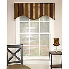 Image Of RL Fisher Euro Stripe Cornice Window Valance Part 75
