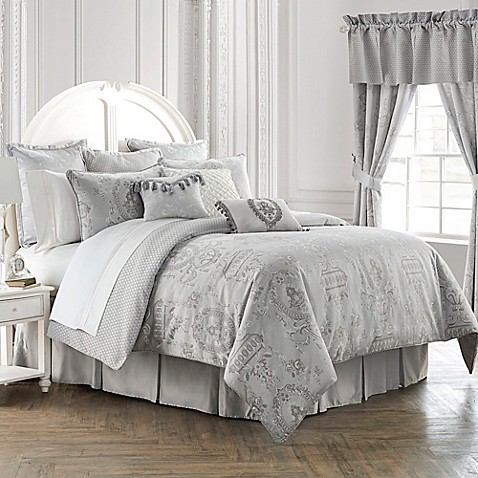 waterford linens whitney reversible comforter set bed
