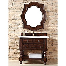 Image Of Castilian 36 Inch Aged Cognac Wood Single Vanity Collection