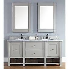 image of Madison 72-Inch Dove Grey Double Vanity with Drawers Collection