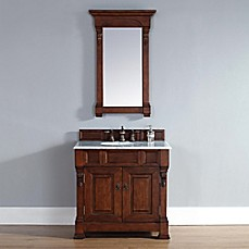 image of Brookfield 36-Inch Warm Cherry Single Vanity with Double Doors Collection