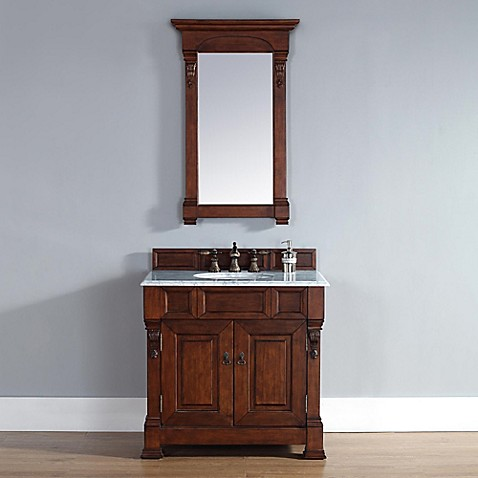 Brookfield 36-Inch Warm Cherry Single Vanity with Double Doors Collection