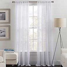 Destiny Rod Pocket Sheer Window Curtain Panel