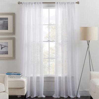 image of Destiny Rod Pocket Sheer Window Curtain Panel