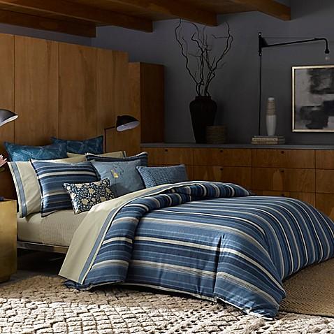 Ed Ellen Degeneres Azur Stripe Duvet Cover Bed Bath Amp Beyond