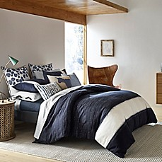image of ED Ellen DeGeneres Bleu Duvet Cover in Navy