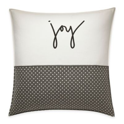 image of ED Ellen DeGeneres™ Embroidered Joy Throw Pillow in Ivory/Grey