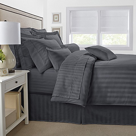 damask stripe reversible comforter set - Royal Velvet Sheets